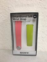 Sony Swr310 Band For Swr30 Smartband Size M/l Pink Green Lime Set Wrist Strap