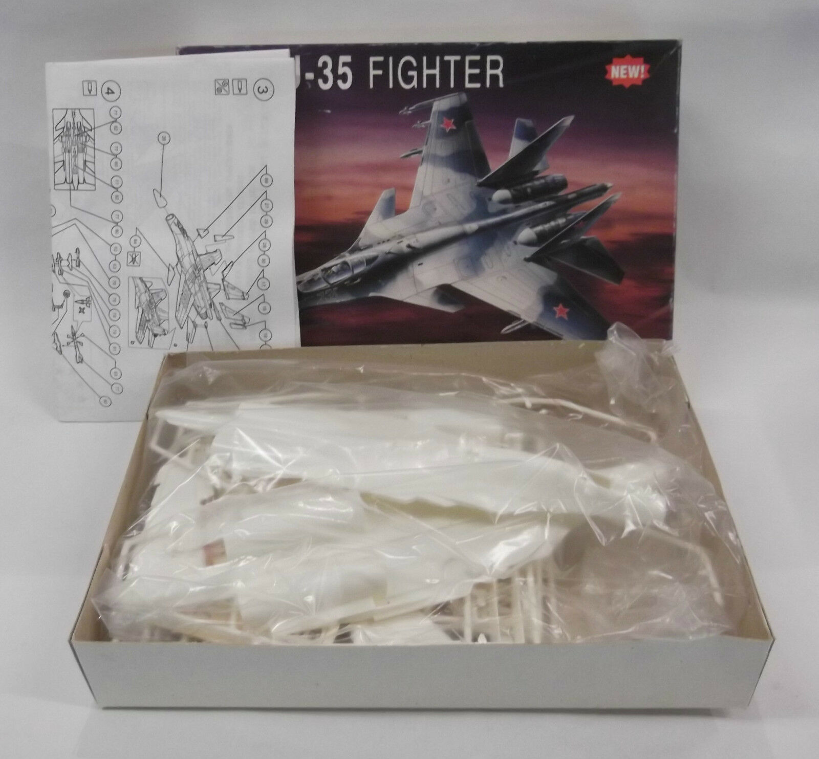 NAKOTNE 1 72 SU-35 FIGHTER PLASTIC MODEL KIT MINT IN BOX
