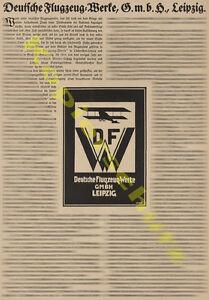 o-Reklame-Deutsche-Flugzeugwerke-DFW-Leipzig-Rustung-Heer-Firmengeschichte-1918