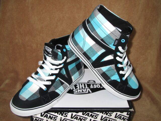 490e406d VANS Corrie Hi High Top Girls Skate Shoes Size 11 SNEAKERS Plaid Black Blue