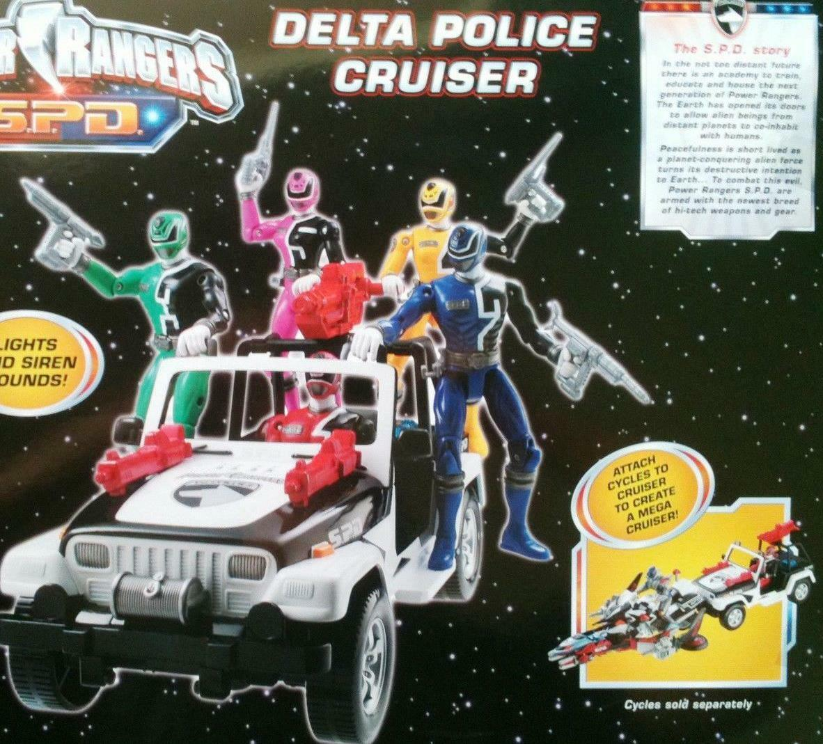 Power Rangers SPD Delta Delta Delta Police Cruiser New Factory Seal 88a508