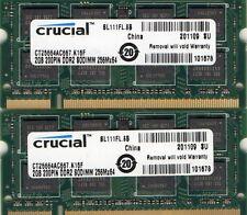 4GB (2x 2GB Kit) Apple MacBook A1181/A1261 PC2-5300 DDR2 Laptop/Notebook Memory