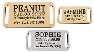 Personalised-Dog-Tag-Slide-On-Slider-Pet-ID-Name-Custom-Engraving-Brass-Steel