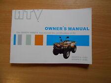 Fahrerhandbuch  owner`s manual  350 / 450 ATV 4x4-EC