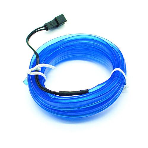 Car Blue EL Cold Line Flexible Neon Interior Decoration Moulding Trim Strip Ligh