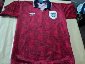 low priced 5bae3 eb7c5 Details about old soccer Jersey England umbro with 5 white painted