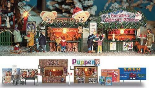 Christmas Markets 1:87 // OO Busch 1060 NEW HO 1:76