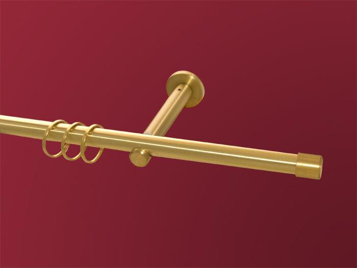 Gardinenstange Kappe 1-lfg Messing matt massiv 16mm  | Zuverlässiger Ruf