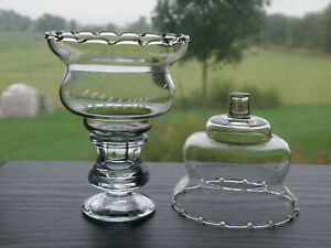 2 Homco Home Interiors Wheat Fern Etched Crimped Edge Votive Cup Candle Holder Ebay