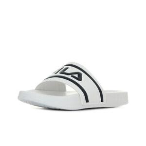 femme gamme complète d'articles styles de mode Détails sur Chaussures Claquettes Fila homme Morro Bay Slipper taille Blanc  Blanche