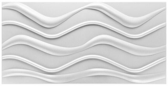 WAVE 1 m2 Platten 3D Polystyrol Wand Decke Paneele Wandplatten 50x50cm