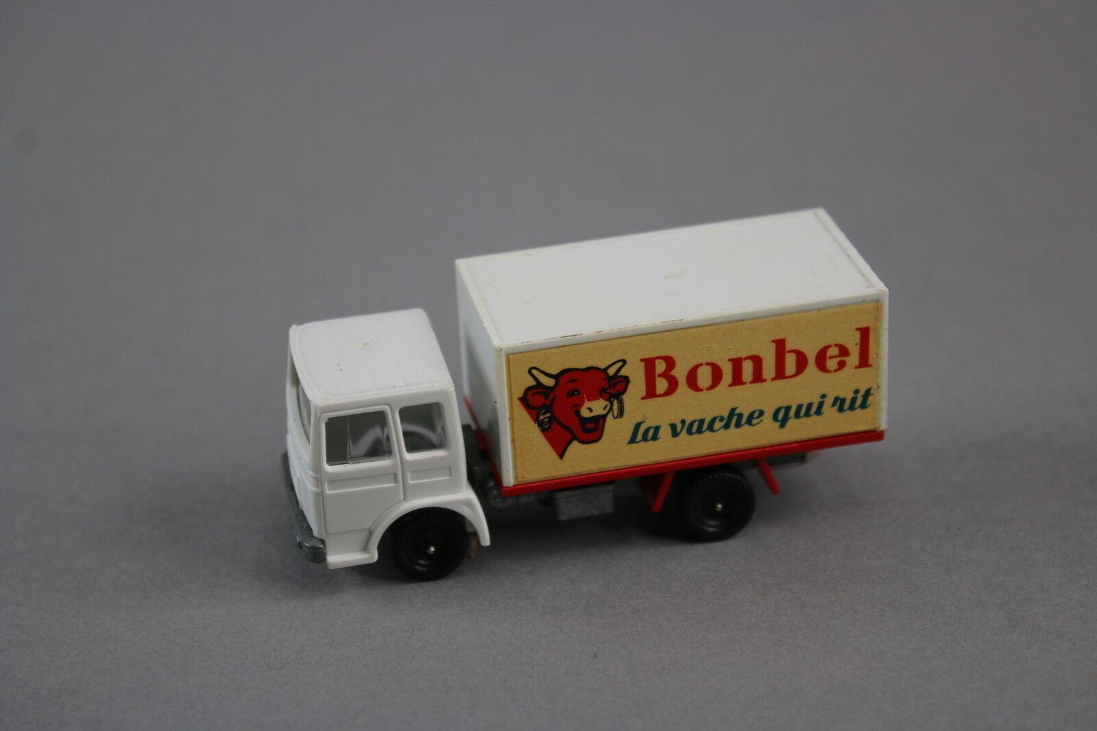 V572 champion 73mm selten camion saviem sm 300 bonbel vache qui rit fromage  - logo