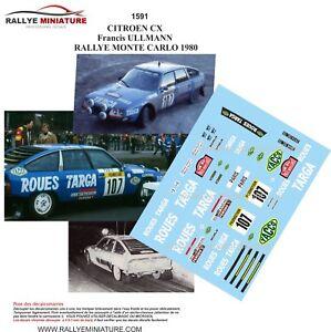 DECALS-1-43-REF-1591-CITROEN-CX-ULLMANN-RALLYE-MONTE-CARLO-1980-RALLY