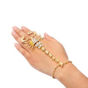 Skorpion-Sklavenarmband-Armband-Ring-Armschmuck-Handschmuck-Bracelets-Schmuck