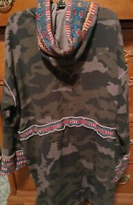 Non-returnable NICE SZ L Johnny Was Tia Embroidered Moonlight Camo ...