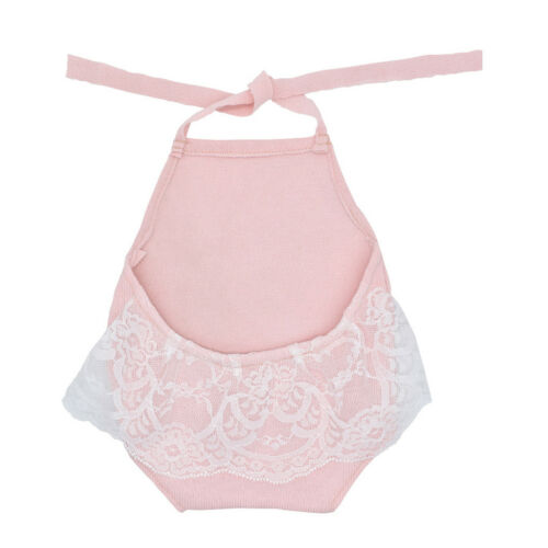 Baby Lace Backless Halter Romper Newborn Photography Props Princess Girl Clothes