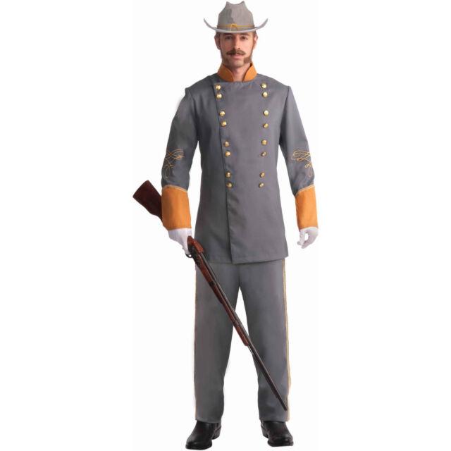 Confederate Soldier Officer Uniform Civil War Mens Plus Halloween Costume XL  sc 1 st  eBay & Confederate Soldier Officer Uniform Civil War Mens Plus Halloween ...