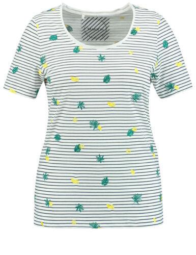 Samoon cuciture-shirt con Ricamo by Gerry Weber 100/% bio-cotone donna tg.