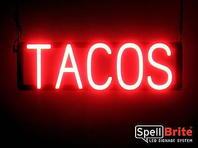 High Impact, Energy Efficient Tacos Burritos LED Sign