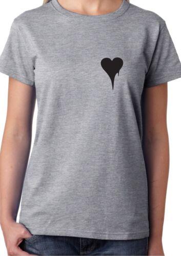 MELTING HEART Pocket T-Sshirt Cool Hype Fresh Love Uni Student Ladies Unisex