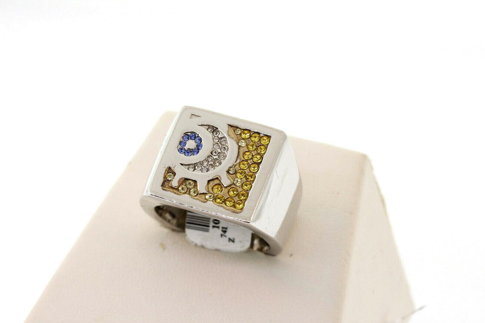 SHR & Simmons Sterling SpongeBob Square Pants Crystal EYE Ring Size 10