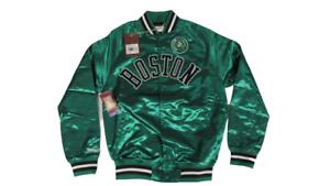Boston Celtics Mens Sizes Mitchell & Ness Green Satin Button Snap Jacket