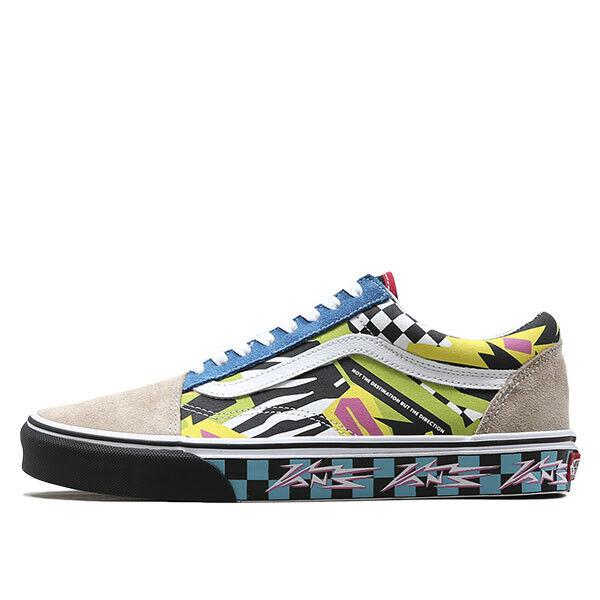 Nuevo Vans Skool Mash Up impresión de múltiples Old blancoo Negro Suela Tenis Zapatos 2019