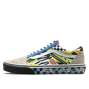 f49d0d28407c2 New Vans Old Skool Mash Up Multi White Print Black Sole Sneakers ...