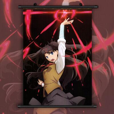 Fate Zero Stay Night Rin Tohsaka HD Print Anime Wall Poster Scroll Room Decor