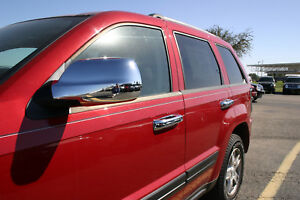 Fits 2005 2006 2007 2008 2009 2010 Jeep Grand Cherokee Chrome Door Handle Covers
