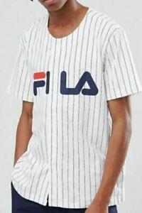 Détails sur Men's Fila Baseball Chemise Blanche Taille XL neuf avec étiquettes afficher le titre d'origine