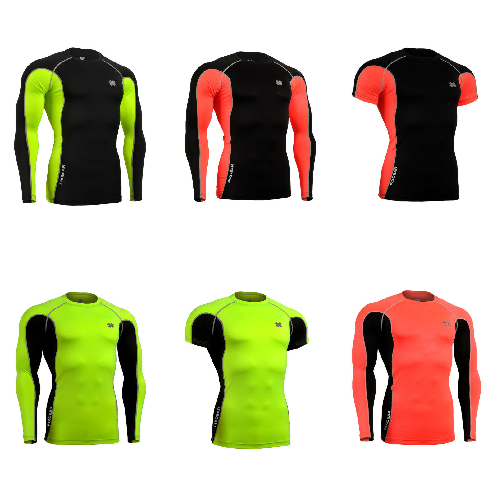 FIXGEAR FCT Skin-tight Compression base layer under gym training fitness A