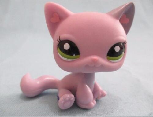 Littlest Pet Shop 1994 Purple Kitty Cat  Heart Ears Authentic Lps