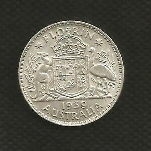 1939-FLORIN-GEORGE-V-EXTREMELY-FINE-CONDITION-KEY-DATE-MINT-BLOOM