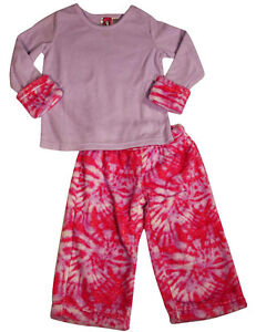 c32a2bedcb Details about Up Past 8 - Sara s Prints Girls Flame Resistant Fleece 2  Piece Sleep Pajama Set