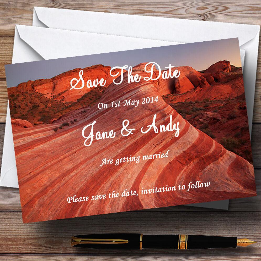Valle del Fuego Personalizado Bodas Save The Date Tarjetas