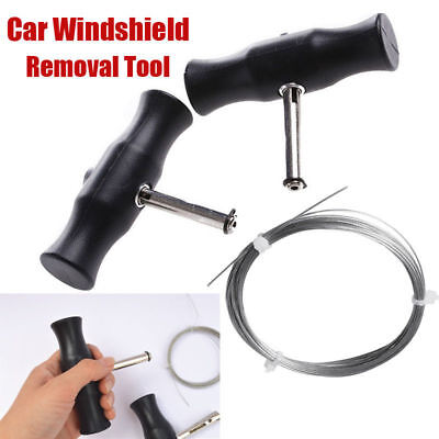 Windshield Removal Tool Windscreen Window Glass Cutting Wire and Handles Car Auto Windshield Removal Tool