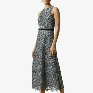 Ted-Baker-Edella-Floral-Lace-Sleeveless-Fit-amp-Flare-Midi-Evening-Dress-295