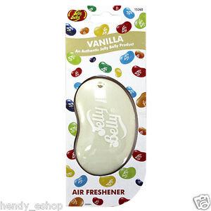 *New* JELLY BELLY 3D BEAN SWEETS SCENT CAR AIR FRESHENER FRESHNER - VANILLA