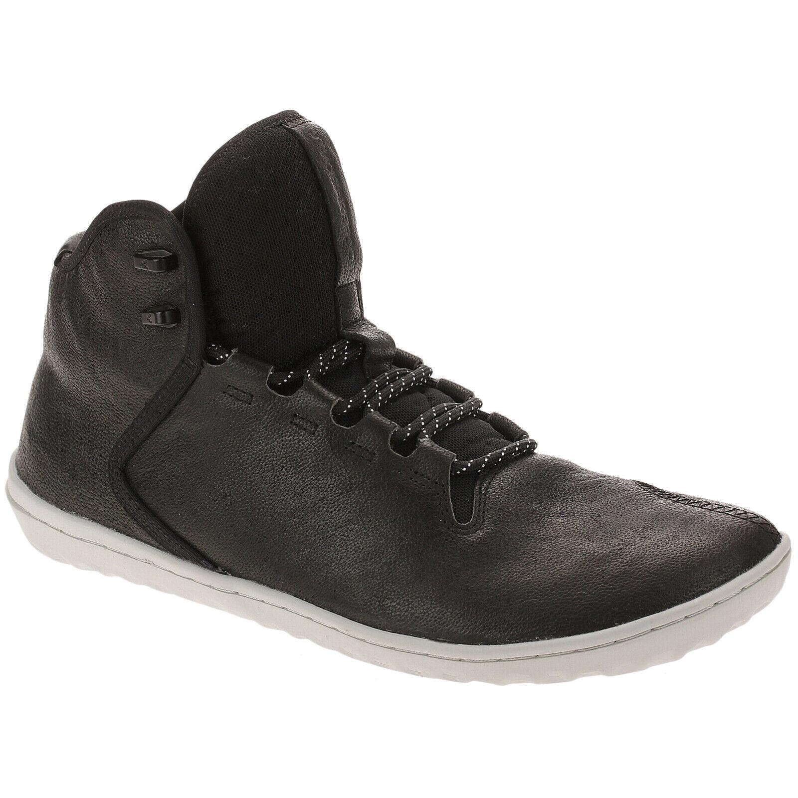 Vivobarefoot Borough cuero hi-top Flat Lace-up casual botín señores entrenador