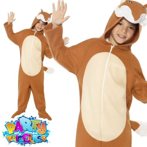 Child Mr Fox Costume Girls Boys Fancy Dress Book Day Outfit New Jumpsuit