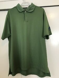 Adidas-Climacool-Golf-Polo-Shirt-Green-Mens-Size-L-Invesco-Aim