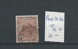 """KLEINrond """"AMST:W:DOK 24-jun-1892"""" VFU/gebr  CV 20+ €"""
