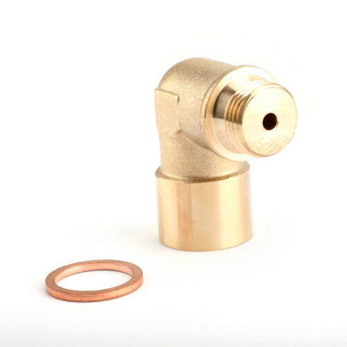 M18X1.5 02 Bung Extension O2 Sauerstoffsensor Angled Extender Spacer 90 DegreeB3
