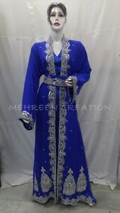 Royal Moroccan Caftan Dubai Kaftan Abaya Wedding Robe Takchita Var 1103 Ebay