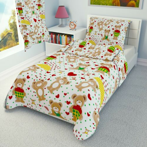 RED HEARTS TEDDIES Baby Bedding Set Duvet Covers for Cot//Cot bed//Toddler//Junior