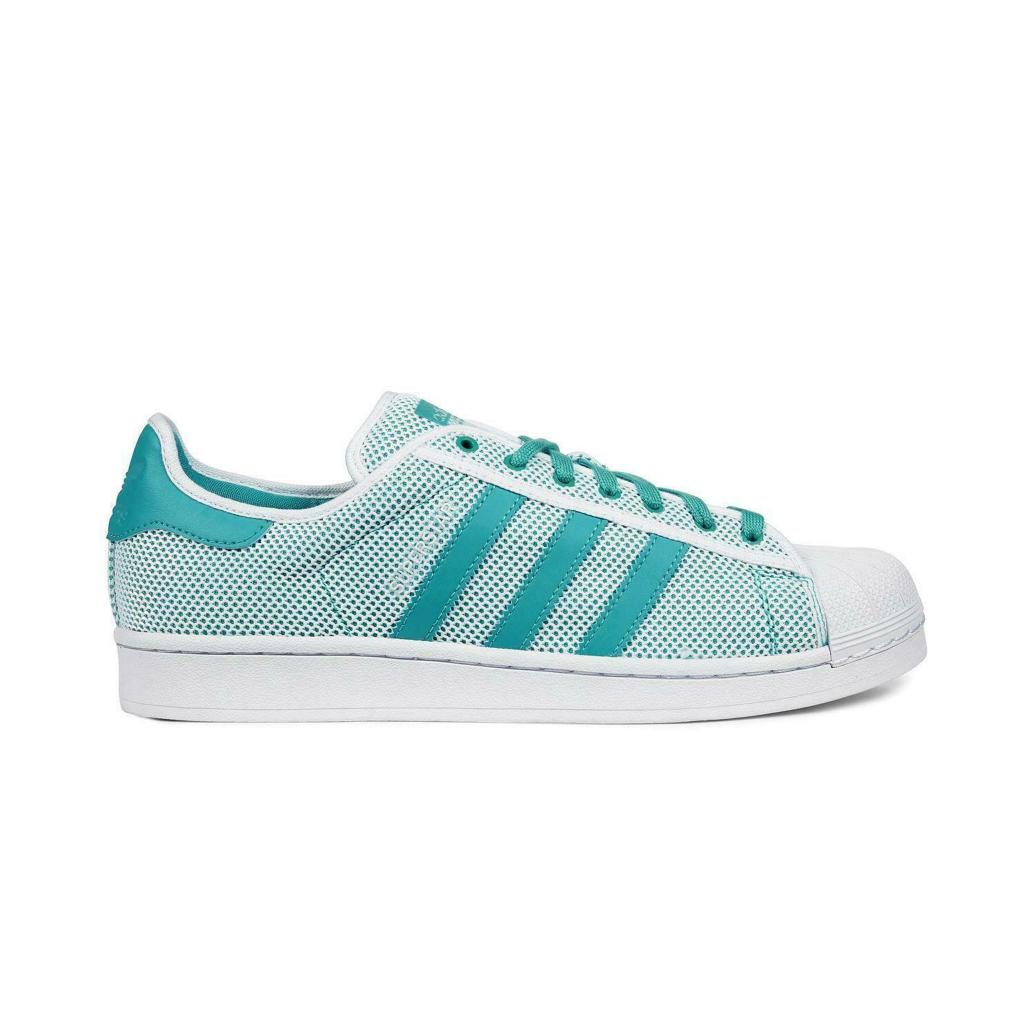 Mens ADIDAS SUPERSTAR ADICOLOR Mint Trainers S76503