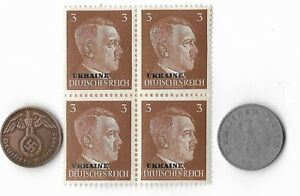 Rare-Old-WWII-WW2-Germany-Coin-Ukraine-Russia-Stamp-Great-War-Collection-Lot-G46
