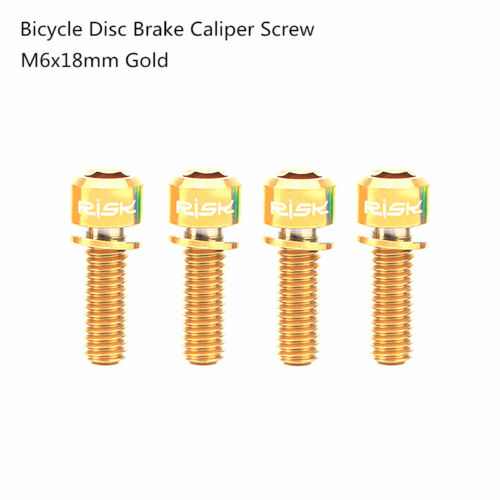 RISK Bicycle Bike M6x18mm Disc Brake Caliper Bolts Titanium Screws With Gasket