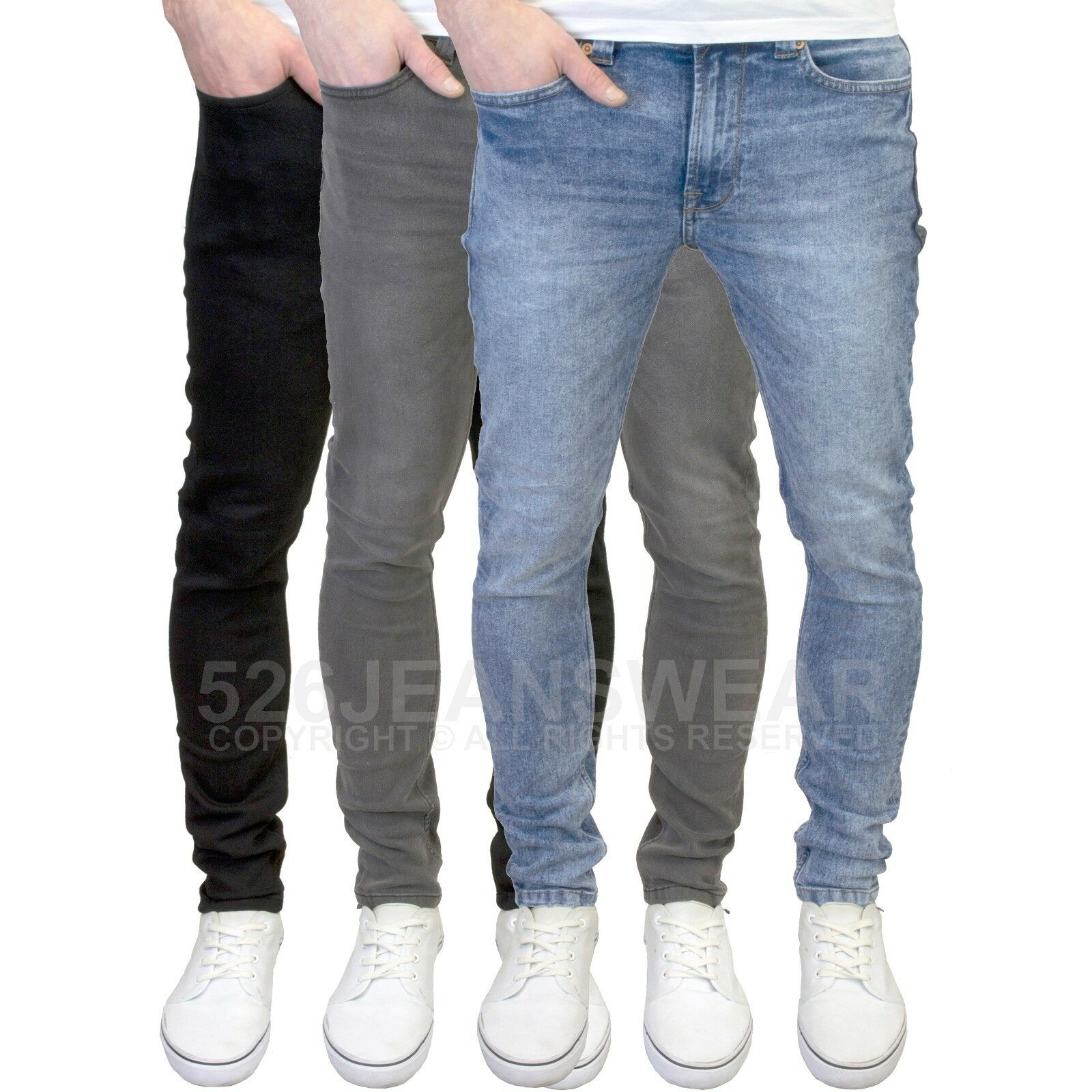 4b9f3853b7e5df Details about Only & Sons Men's Designer Skinny Fit Stretch Jeans, BNWT